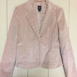 Pink velvet blazer